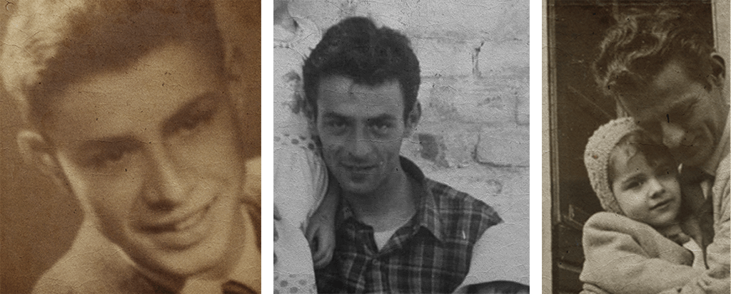 Three portraits of the real person used as reference for Virtual Reality project