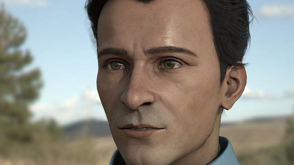 Viso di un personaggio 3D texturizzato