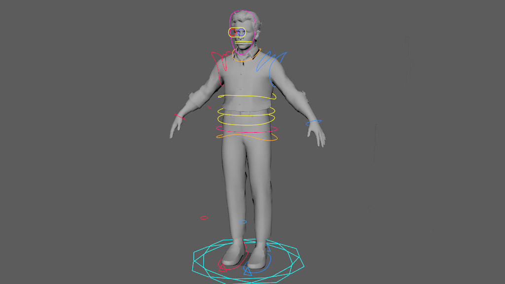 rigging 3d control human body shape for virtual reality