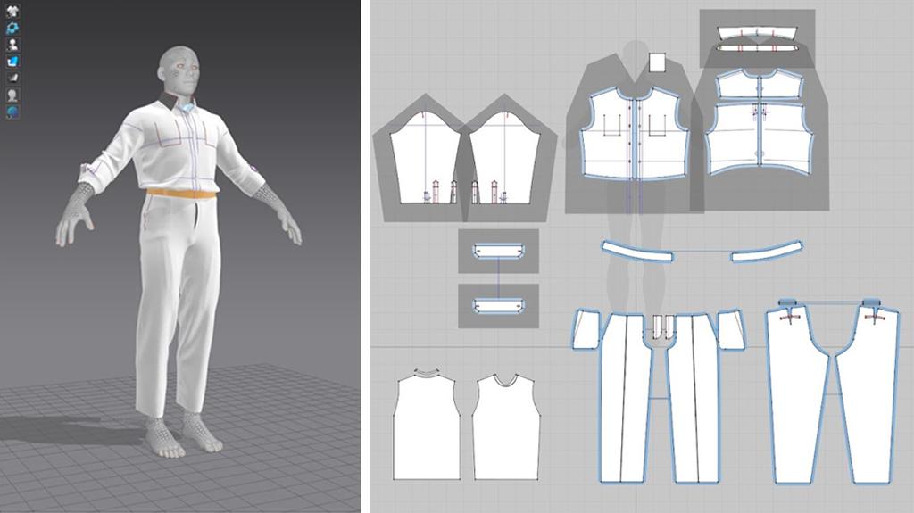 simulazione della vestibilità degli abiti in Marvelous Designer: camicia e pantaloni