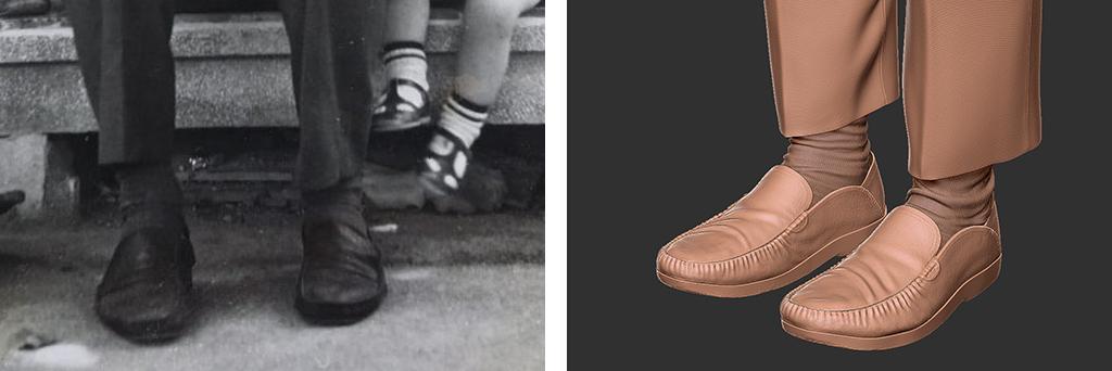 Scarpe come reference e scarpe con zbrush