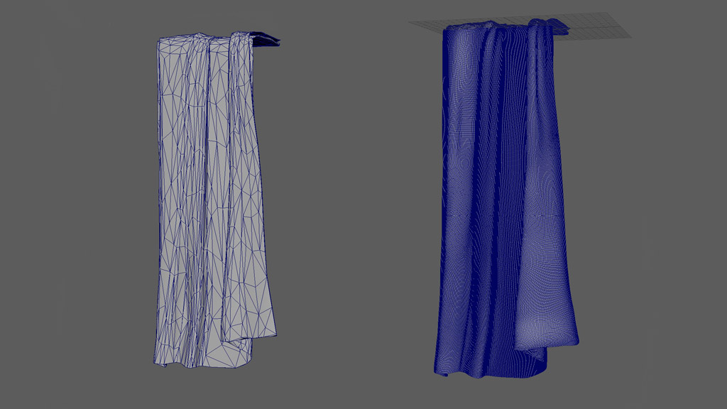 3d modeling towel low-poly high-poly difference