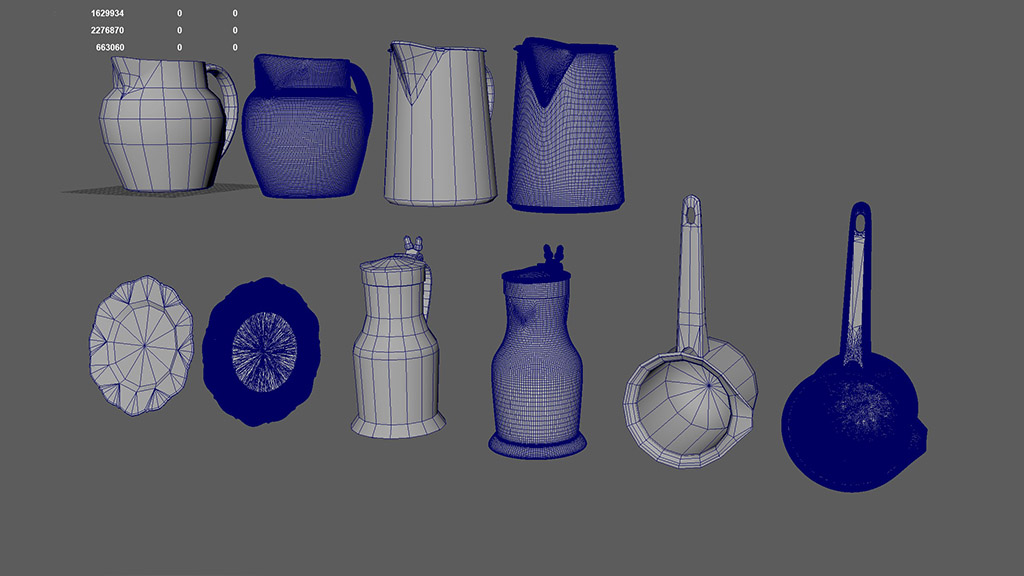 3d modeling high-poly low-poly difference