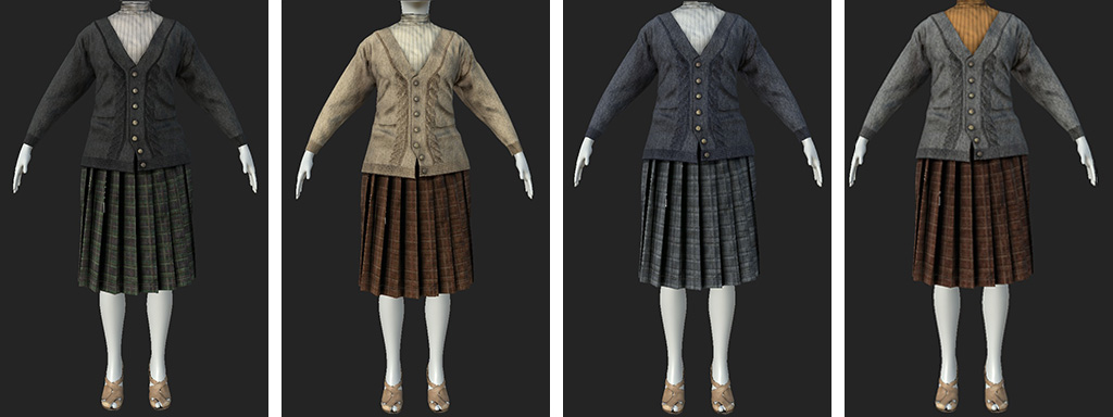 texturing color studies vintage clothes