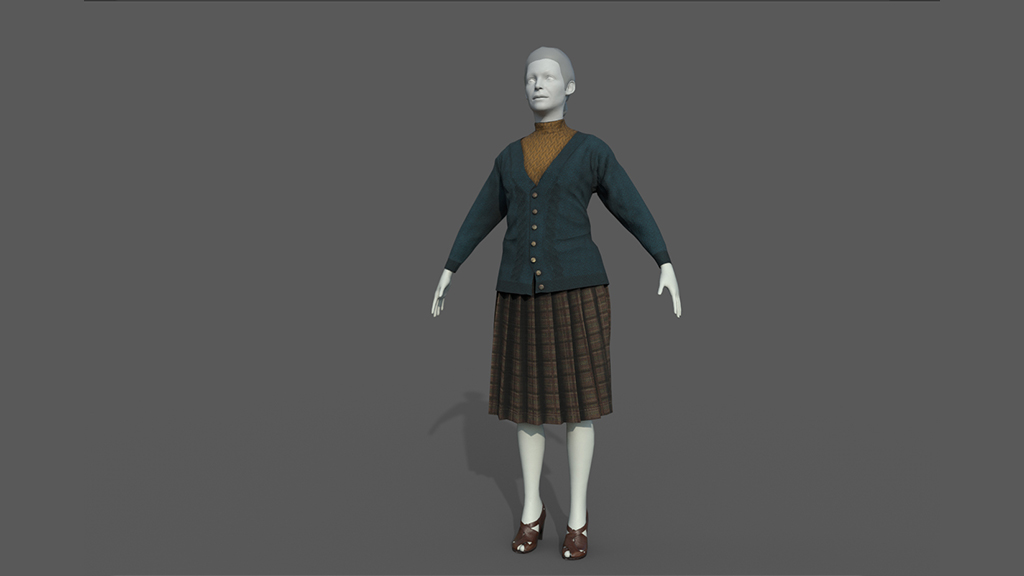 texturing vintage clothes woman
