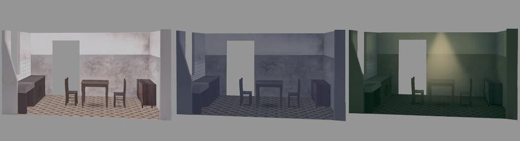 bozzetti lighting interno cucina vintage tramonto, buio, luce artificiale