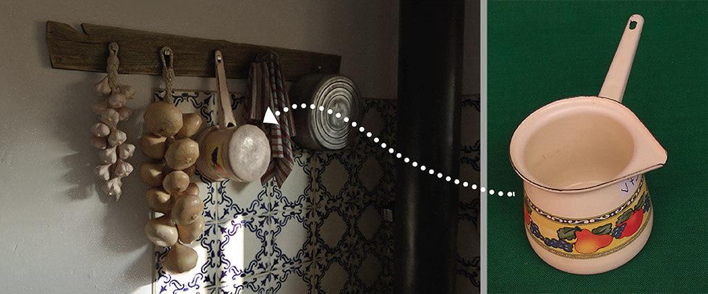 texturing 3d oggetto di scena cucina vintage